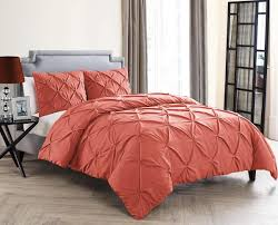 Easy Care Solid Duvet Cover Set Made By Design Vcny Home Cmn 3dv Quen Ov Oi Duvet Cover Set Queen Coral