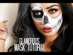 glamorous half skull mask tutorial kara makeup academy