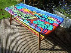 David Marshduncan Marsh Benches Cosas Online Mexican Folk Art Hand Painted Benches