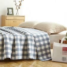 queen size soft cotton bedside blanket summer big 200230cm plaid cotton comforter queen 265