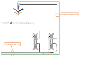 ceiling lighting wiring a fan with light diagram in how to
