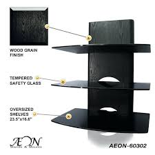wall mount shelves for tv components component shelves w three tiers and wood grain finish wall wall mount shelves for tv components