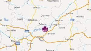 Kayseri'de 4.1 büyüklüğünde bir deprem meydana geldi