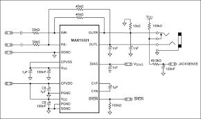 add a discrete jack sensing circuit to Headphone Jack Schematic Diagram TRS Jack Wiring Diagram