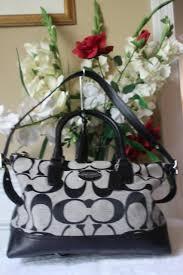 Coach 21150 Legacy Signature Molly Black Satchel shoulder Bag (160
