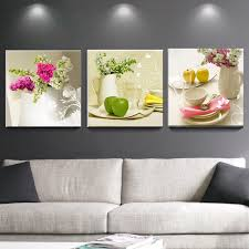 3 pcs canvas paintings for kitchen fruit wall decor modern flowers kitchen canvas art