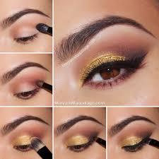 golden eye makeup tutorial