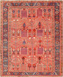 red background antique heriz persian rug 49291 nazmiyal