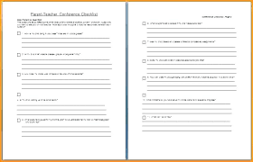 Sample Conference Schedule Template Fascinating Parent Teacher Conference Schedule Template Interview Form Report