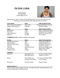 Acting Resume Interesting Acting Resume
