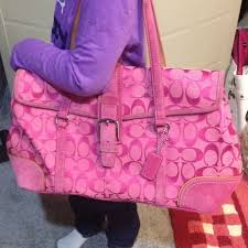 Coach Signature fuchsia pink shoulder bag