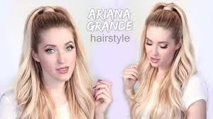 Half Ponytail Hairstyles Ariana Grande Hair Tutorial Half Ponytail Hairstyle With