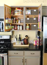 Storage For Kitchen Cupboards Kitchen Organization Ideas For The Inside Of The Cabinet Doors