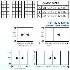 standard sliding door sizes post