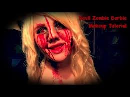 devil zombie barbie makeup tutorial