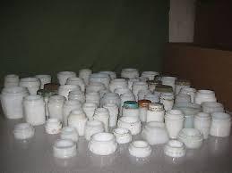 antique milk glass jars bottles vintage old white lot of 63