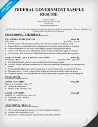 Permalink to Federal Government Resume Sample