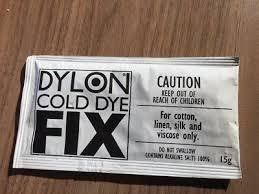 Dylon Dyes Colour Chart Nz Dylon Cold Dye Fix 15g Fabric Clothes Dye Fixer Colourfast