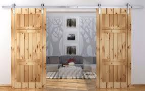 14 4ft antique country style stainless steel sliding barn door double barn door sliding track kit