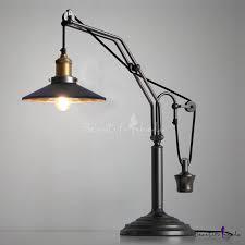 vintage black farmhouse single light table lamp
