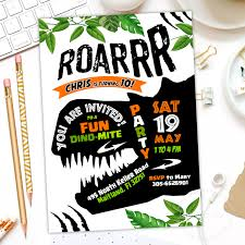 Dinosaur Birthday Invitation Dinosaur Invitation Dinosaur Birthday Invitation Dinosaur Party Invitation Dinosaur Birthday Party Dinosaur Party Digital File Thank You