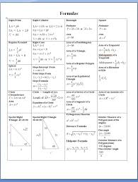 formula sheets for geometry image result for geometry techniques formulas sheet math math