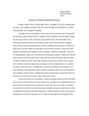 please vote for me reflection essay mojica brian chinese culture 1 pages kung fu hustle reflection essay