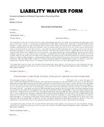 Basic Liability Waiver Form Beauteous Generic Liability Waiver Template Legal Waiver Form Templates Free