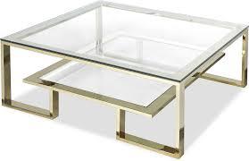mayfair glass coffee table in steel