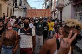 Cubans protest against food shortages ...