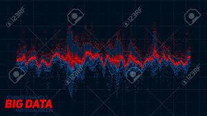 Vector Abstract Financial Big Data Graph Visualization Stock