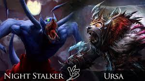 dota 2 night stalker vs ursa one click battle youtube