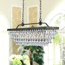 rectangular crystal chandelier antique copper finish free canada