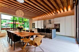 Apartments:Divine Ecological House Montreal Contemporary Exposed Beams  Interior Glulam Insulation Feng Shui Painted Ceiling
