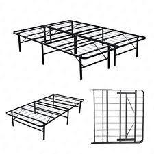 Twin platform bed frame Headboard Twinfullqueen Bifold Folding Metal Bed Frame Platform Mattress Foundation New Odelia Design Twin Platform Bed Ebay