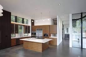 concrete tile floor in a modern kitchen