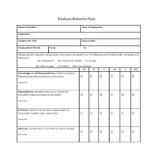 Restaurant Employee Performance Review Staff Evaluation Form Template Employee Free Download Doc