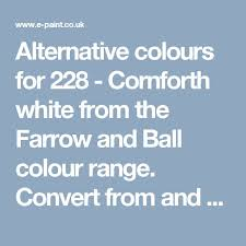 Bs To Ral Conversion Chart Alternative Colours For 228 Cornforth White From The