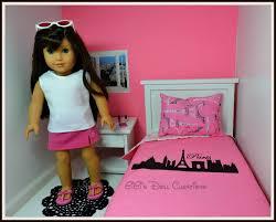 new paris theme doll bedding for american girl dolls