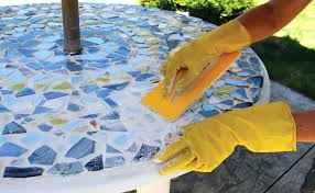 diy mosaic table how to make a mosaic patio table diy mosaic table top ideas