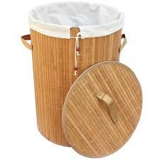 Корзина для белья РЫЖИЙ КОТ бамбук угловая цвет ...
