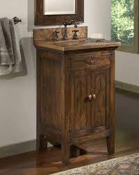 Small Bathroom Sink Cabinets Extraordinary Rustic Wood Bathroom Vanities Horrible Home