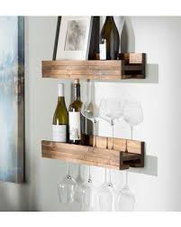Wall mounted wine bottle rack Wine Barrel Wine Glass Trent Austin Design Bernon Bottle Wall Mounted Wine Bottle Rack Trnt4446 Finish Dark Walnut Better Homes And Gardens Dont Miss This Deal On Trent Austin Design Bernon Bottle Wall