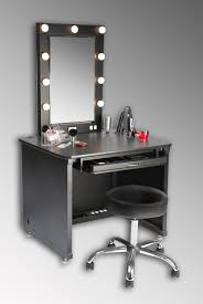 vanity with lights around mirror. small black modern makeup vanity table with lights around mirror and drawer storage plus round stool leather cushion stainless steel o