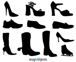 Vectors Silhouettes Free Shoe Vectors Silhouettes