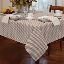 Round Kitchen Table Cloth Tablecloth Traditional Gingham Check Round Square Oblong Kitchen