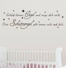 Schlaf Kleiner Engel Schutzengel Wandtattoo Sprüche Kinderzimmer