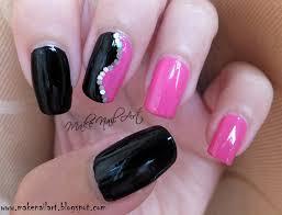 Pink Nail Art Design Black And Pink Nail Art Design Nail Art By Make Nail Art
