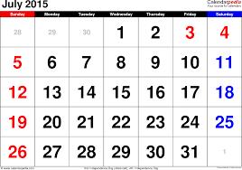 Calendar 2015 June July Calendar Of July 2015 Under Fontanacountryinn Com
