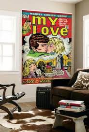 marvel comics retro my love comic book cover no 18 kissing love on marvel comics mural wall graphic with comic book wall murals posters for sale at allposters